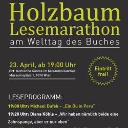 Holzbaum-Lesemarathon: Lesung am 23.04.2019
