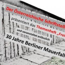 """Präsentation des ÖSV-Themenhefts """"Freiheit"""": Lesung am 27.09.2019"""